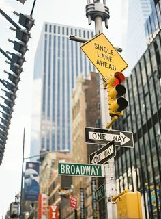 Broadway Director Michelle Bossy // New York City // city street signs // photography by Judy Pak