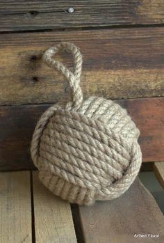 "5"" Monkey Fist Nautical Doorstop Rope Sailor Knot MobyDick http://www.amazon.com/dp/B00CWRJPBO/ref=cm_sw_r_pi_dp_fvPoub1FRMPTN"