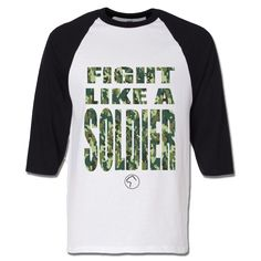 """Brave"" Soldier Baseball Tee"