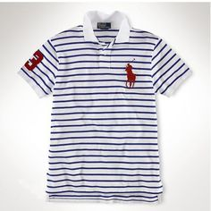 Ralph Lauren Classic Custom-Blue stripe Red Big Pony ,the greateat discount, 77
