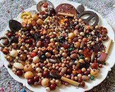 HUGE 15 oz Destash Bead Mix Vintage Glass Plastic Rhinestone Metal Brown Tan Natural Neutral Inspiration Altered art diy by PhatCatVintage on Etsy https://www.etsy.com/listing/246191094/huge-15-oz-destash-bead-mix-vintage