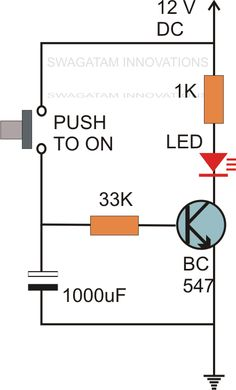 The post discusses a few interesting and simple delay timer circuits which promises many interesting applications. The design relies only on BJTs and a few resistors and capacitors for executing the desired delay OFF time features Simple Electronics, Hobby Electronics, Electronics Components, Electronics Gadgets, Electronics Projects, Electronic Circuit Projects, Electronic Engineering, Electrical Engineering, Arduino Projects