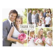 Three Photo Collage Wedding Thank You Postcard - tap, personalize, buy right now! #wedding #thank #you #photo #collage Wedding Thank You Postcards, Wedding Postcard, Wedding Cards, Wedding Gifts, Collage Foto, Thank You Photos, Photo Wedding Invitations, Wedding Stationary, Party Invitations