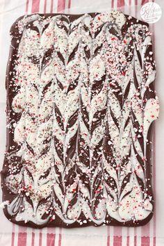 Easy Peppermint Mocha Bark Recipe l www.a-kitchen-addiction.com