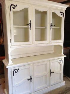 Shabby Chic Farmhouse Hutch by JamieElaine on Etsy, $875.00