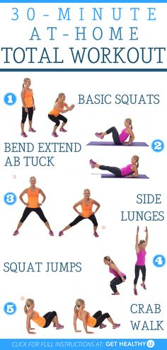 Ready to get your sweat on? Do this at-home full body workout that will work all the major muscle groups. You don't need any equipment—just your own bodyweight and a little room to move. Ab Core Workout, Step Workout, Toning Workouts, Exercises, Easy Daily Workouts, At Home Workouts, Home Strength Training, Full Body, Muscle Groups