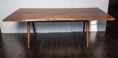 20th Century George Nakashima Dining Table | From a unique collection of antique and modern tables at https://www.1stdibs.com/furniture/tables/tables/