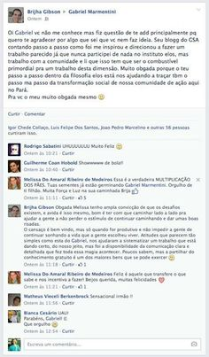 Mensagem de uma pessoa que se inspirou a realizar uma ação ao ver o blog do Caminho do Sim do gsa 2014 Gabriel Marmentini.