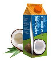 Super gezond. Biologisch kokoswater. Een bron van kalium en vezels, werkt bloeddrukverlagend en is 100% natuurlijk
