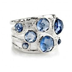 Constellation ring in blue topaz and sterling silver by Ippolita