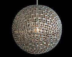 Pendant Penchant: Amazing pendant lamp created from soda pop tabs