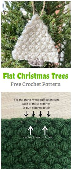 Crochet Flat Christmas Tree Pattern - Crochet Kingdom