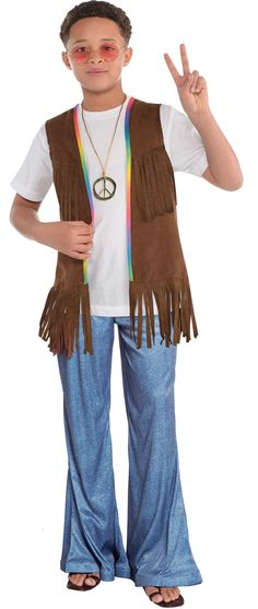 Kid 39 S Hippie Costume Tutorial Felt Costume Projects Pinterest Hippie Costume Costume