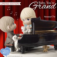 This Limited Edition Precious Moments musical figurine is a wonderful way to celebrate the fact that life with the one you love is grand! Precious Moments Quotes, Precious Moments Figurines, Wedding Toasting Glasses, Baby Grand Pianos, Find Color, Sweet Notes, My Precious, Sweet Girls, Couple Gifts