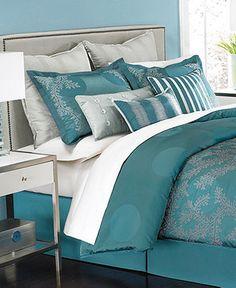 Martha Stewart Collection Bedding, Moonlit Tide 9 Piece Comforter Sets - Shop Martha Stewart Bed & Bath - Bed & Bath - Macy's 18999