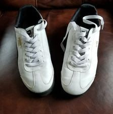 PUMA Turin Leather Suede Men s Size 10 Sneakers Rare Colorway White   Black dc70ec007