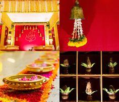 Deepti and Shriram January Ganpati Decoration Images, Ganpati Decoration Theme, Gauri Decoration, Ganapati Decoration, Indian Decoration, Diy Decoration, Decor Ideas, Diy Backdrop, Backdrop Decorations