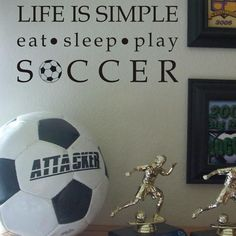 Rosenberry Rooms has everything imaginable for your child's room! Share the news and get $20 Off  your purchase! (*Minimum purchase required.) Life is Simple Soccer Wall Decal