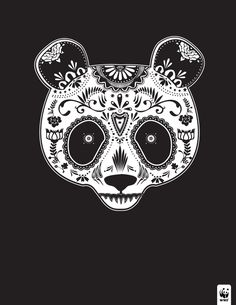 Justin's ads show animals that are on the brink of extinction in the style of traditional Día de los Muertos (Day of the Dead) Sugar Skulls. | Artist Depicts Endangered Animals As Beautiful Sugar Skulls
