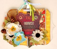 Scrapperlicious: Altered Fall Clipboard by Irene Tan using BoBunny Farmers Market collection