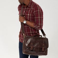 FOSSIL® Bag Styles Messenger: Bag Styles Dillon Messenger.    I want to live in this bag...