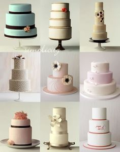 Cakes, cakes cakes... wedding-cakes wedding-cakes lovable-food food-that-means-something