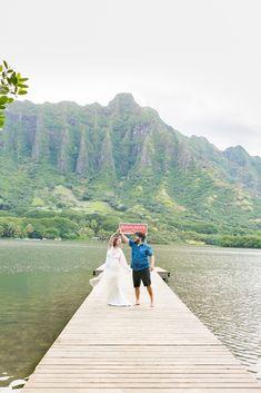 Kualoa Ranch Secret Island Beach venue is the top wedding destination on Oahu. Kualoa offers a fantastic destination for drone and aerial photography. Aerial Photography, Wedding Photography, Kualoa Ranch, Beach Elopement, Island Beach, Oahu, Destination Wedding, Destination Weddings, Wedding Photos
