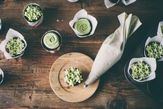 Chocolate cupcakes with machta green tea frosting (via My Name is Yeh).