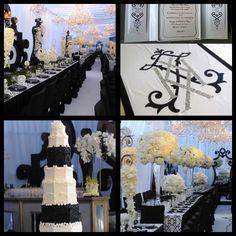 black & white monochrome wedding