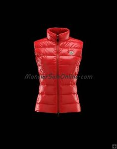 Best 2013 Winter MONCLER GHANY Women Down Vest Red Online Store
