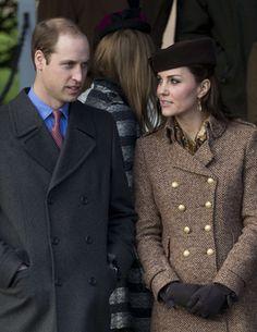 William et Kate privent George de messe de Noël