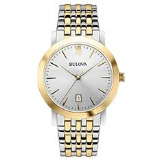 Bulova Unisex 98B221 Analog Display Japanese Quartz Two Tone Watch * Check this awesome product by going to the link at the image.