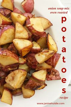 If you are looking for an easy, but tasty potato recipe to make, then you need to try Oven Roasted Potatoes with Onion Soup Mix.