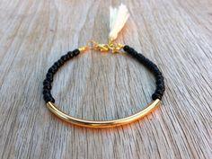 Bracelet tube or Bracelet en perles perles bracelet par Haneelove, $9.00