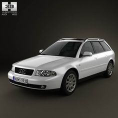 Audi A4 Avant 1999 3d model from humster3d.com. Price: $75