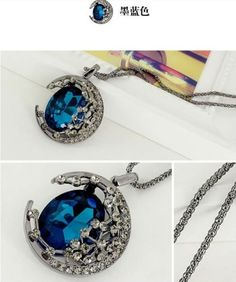 Sailor Moon Necklace Pendant wedding jewel rhinestones Gem Retro goddess
