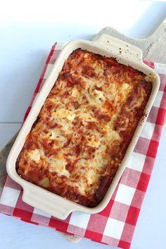 Cannelloni met spinazie, gehakt en ricotta - Lekker en Simpel Pureed Food Recipes, Pasta Recipes, Cooking Recipes, Cannelloni Ricotta, My Favorite Food, Favorite Recipes, Weird Food, Food Test, No Cook Meals