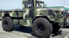 1971 AM GENERAL M35A2 BOBBED DEUCE AND A HALF 4X4 MILITARY TRUCK W WHISLER TURBO