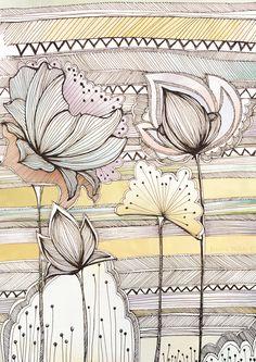 Jessica Wilde -Surface Pattern Designer & Illustrator | Wild Flowers - Jessica Wilde -Surface Pattern Designer & Illustrator