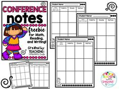 Conference Notes FREEBIE!