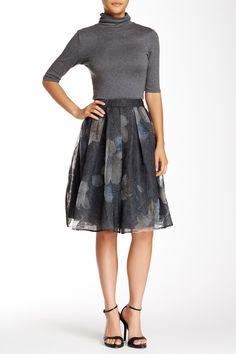 Floral Jacquard Midi Skirt (Juniors) by ASTR on @HauteLook