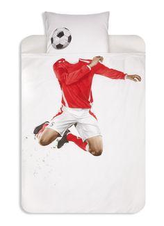 Snurk Soccer dekbedovertrekset van katoen perksl • de Bijenkorf