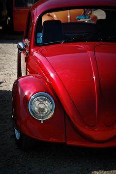 Beautiful Red Volkswagon Beetle