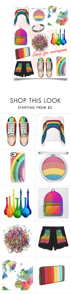 """""""Love for everyone ❤️💛💚💙💜"""" by mystyleanna ❤ liked on Polyvore featuring Gucci, Marc Jacobs, Casetify, Dress My Cupcake, Terez, WALL, Sophie Hulme, INC International Concepts, love and proud"""
