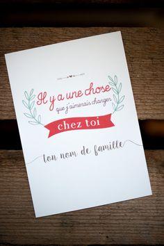 Carte d'amour La Chérie Demande en mariage