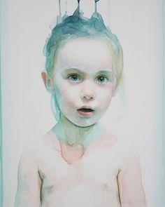 Speak my words. artist: Ali Cavanaugh. Website: http://www.alicavanaugh.com/new-gallery-1/ Watercolor on clay canvas surface