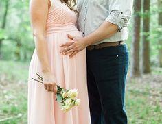 long pink maxi dress for maternity photos