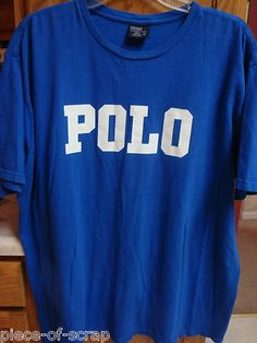 This item SOLD after pinning on Pinterest! Email me to pin to this board as well.    RALPH LAUREN POLO Mens Shirt S/S Tee Short Sleeve TShirt T XL EXTRA LARGE Blue