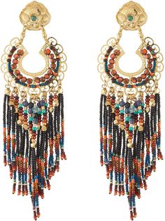 Gas Bijoux Apache Large Gold Plated Earrings