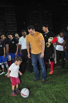 Salman Khan enjoys football with Aamir Khan's son Azad Rao Khan...